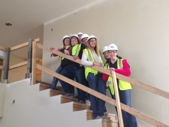 White's Residential touring the site.
