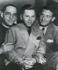 the real Father Flanagan with Mickey Rooney and Spencer Tracy from the BoysTown Movie