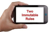 two immutable rules