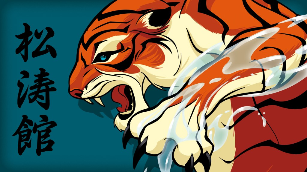 Illustration tigre club karaté