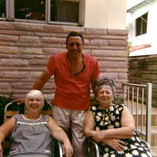 Back: Seymour Berman, Front: Lillian Herman Klein, Anna Neckamyer Berman