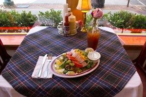 Fresh Cobb Salad with Iced Tea