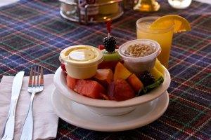 Seasonal Fruit Bowl with Orange Juice