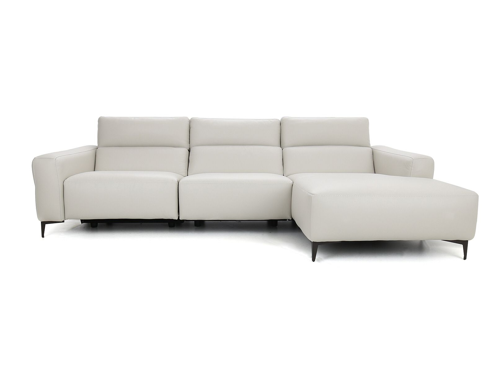 lusso large chaise sofa rhf chaise with 1 x power recliner 2 x powered headrests type 20