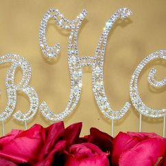 Couture Chair Covers And Events Cover Rentals Jersey City Nj Vintage ~ Swarovski Crystal Monogram Wedding Cake Toppers - Bridal