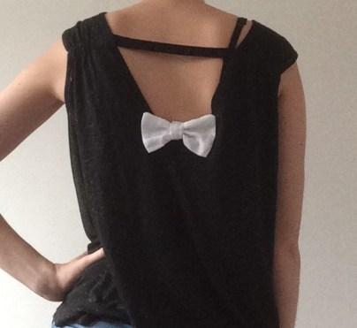 noeud blanc porté