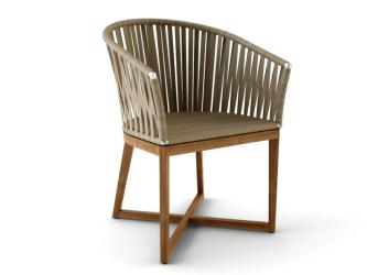 dining seat outdoor chair rope chairs luxury restaurant ballet straps modern toorak wooven armchair teak balard furniture seating qs designs