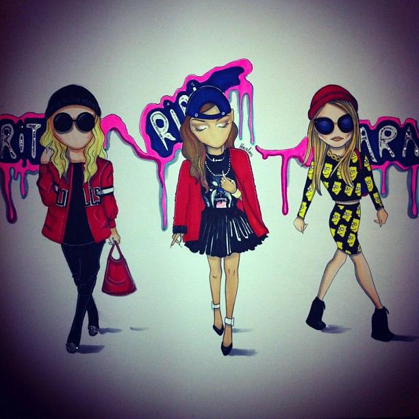 Scene-shakers Rita Ora, Rihanna & Cara Delevingne