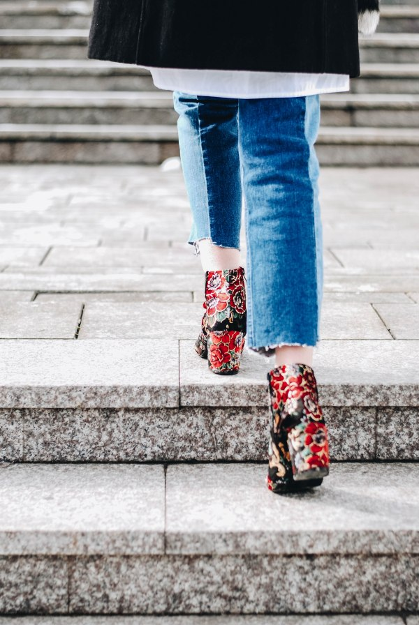 Wear Floral Embroidered Ankle Boots Ii Couturezilla