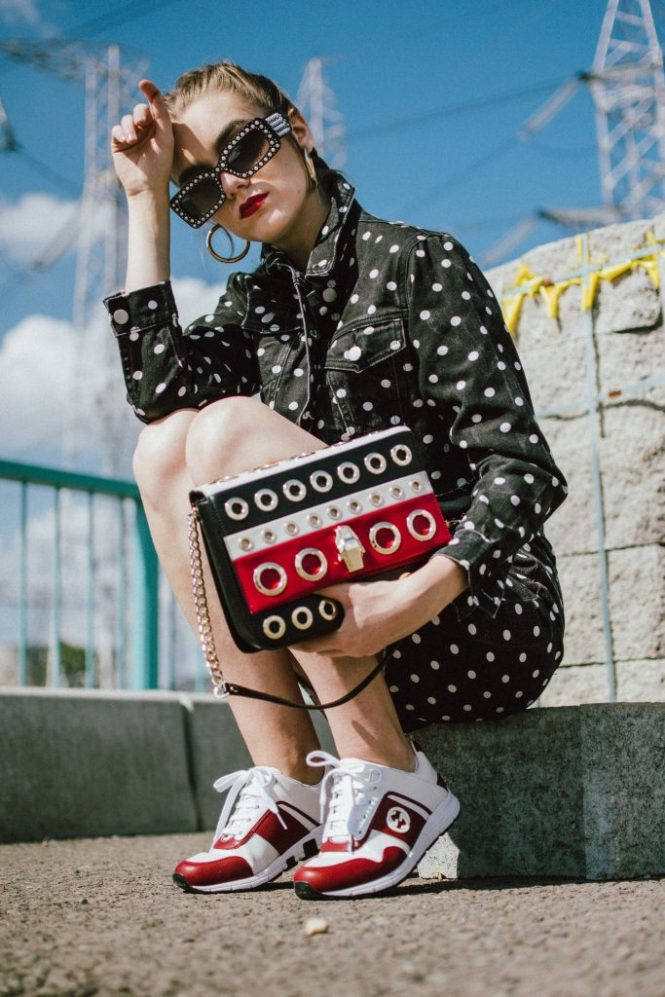 Boohoo denim polka dot set, gucci sneakers, cavalli bag, pearl sunglasses, andreea birsan, couturezilla, cute fall outfit ideas 2018, polka dot trend, how to rock the polka dot trend in autumn 2018, wear polka dots in fall 2018, how to wear a polka dot denim set, polka dot jeans, mini polka dot denim skirt, cropped polka dot jacket, black and white outfit for fall 2018, gucci inspired pearl embellished sunglasses, gold hoop earrings, medium hoop earrings, mango earrings, where to find the best earrings online, cornbraids, mini skirt and sneakers, gucci two tone sneakers, white and red gucci sneakers, gucci trainers, gucci kicks, white leather gucci sneakers, ugly sneakers trend, where to find dad sneakers, chunky sneakers, chunky trainers trend, raw hem skirt, graphic t-shirt, black t-shirt, punk t-shirt, zara cotton t-shirt, edgy fall outfit ideas by andreea birsan 2018, couturezilla's fall outfits 2018, autumn outfits 2018, fall ootd, fall outfit, autumn, how to transition your wardrobe to autumn, how to dress in autumn, bling bling sunglasses, square sunglasses, square shaped sunglasses, 90s black sunglasses, zerouv sunglasses, transitional outfits, how to transition to autumn 2018, how to wear all black, what goes with polka dots, cavalli class striped shoulder bag with eyelets, statement shoulder bag, leather crossbody bag, how to look Parisian chic, European summer street style inspiration for women 2017, pinterest chic outfit ideas for woman, summer outfit ideas, summer ootd inspiration, outfit of the day, ootd, fashion icon, style inspiration, fashionista, fashion inspiration, style inspo, what to wear in summer, how to look French, chic on a budget, zara outfit, mango, topshop, asos, river island, forever 21, urban outfitters, how to mix high end pieces with luxury ones, zara and Gucci,outfit alternatives for summer, tomboy chic, minimal outfit, tumblr girls photos, pictures, happy girl, women, smart casual outfits, the best outfit ideas 2017, what to wear when you don't feel inspired, summer in Europe, weekend attire, uniform, French women in summer, European outfit ideas 2017, minimal chic outfit, how to stand out, the best outfit ideas for summer, the sunglasses you have seen everywhere on Instagram, glasses, uk fashion blogger, united kingdom, uk fashion blog, fashion and travel blog, Europe, women with style, street style, summer fashion trends 2017, best fashion ideas, styling, fall fashion, fall outfit, fall ootd, fall perfect, transitional dressing, best transitional outfit ideas, how to wear statement earrings, dressing for autumn, autumn outfit, winter outfit ideas for work and school 2017, la femme gold chain belt, asos chain belt, how to style chain belts