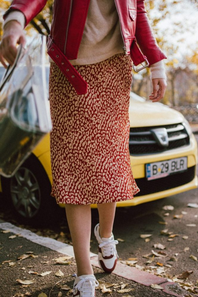 The Satin Leopard Print Skirt You Can Wear To Work
