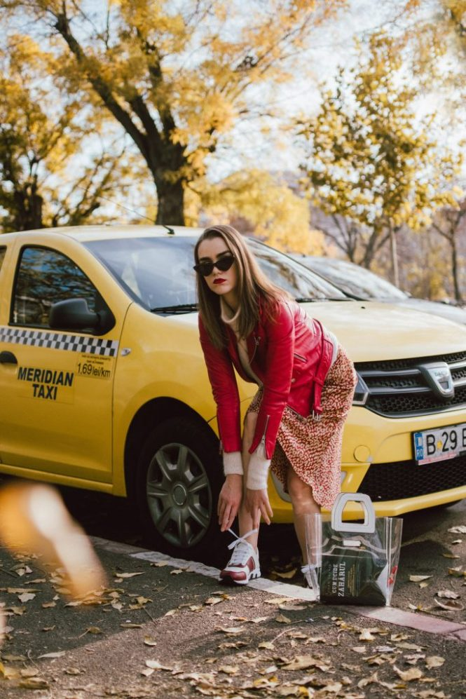 Boohoo satin midi leopard print skirt, mohair turtleneck sweater, gucci sneakers, transparent bag, red leather biker jacket, andreea birsan, couturezilla, cute fall outfit ideas 2018. beige and red midi leopard print skirt, how to wear a midi skirt, what to wear with leopard print, what colors go with animal print, cappuccino turtleneck sweater, light beige cashmere sweater, the best women's sweaters from h&m, how to layer in fall, red leather jacket and turtleneck sweater outfit, leather jacket and midi skirt, mango vinyl tote, staud inspired transparent tote bag, the pvc bag trend, is it worth getting a transparent bag, how to wear the transparent trend bag, outfits to wear to work in autumn 2018, work fall outfits 2018, gucci colorblock ugly sneakers, gucci two tone dad sneakers, gucci chunky sneakers, how to wear chunky sneakers with skirts, moschino inspired black cat eye sunglasses with studs, layer knits with leather jackets, red genuine leather biker jacket, mango red leather moto jacket, fitted leather jacket, edgy fall outfit with skirts and sweaters,  how to look Parisian chic, European summer street style inspiration for women 2017, pinterest chic outfit ideas for woman, summer outfit ideas, summer ootd inspiration, outfit of the day, ootd, fashion icon, style inspiration, fashionista, fashion inspiration, style inspo, what to wear in summer, how to look French, chic on a budget, zara outfit, mango, topshop, asos, river island, forever 21, urban outfitters, how to mix high end pieces with luxury ones, zara and Gucci,outfit alternatives for summer, tomboy chic, minimal outfit, tumblr girls photos, pictures, happy girl, women, smart casual outfits, the best outfit ideas 2017, what to wear when you don't feel inspired, summer in Europe, weekend attire, uniform, French women in summer, European outfit ideas 2017, minimal chic outfit, how to stand out, the best outfit ideas for summer, the sunglasses you have seen everywhere on Instagram, glasses, uk fashion 