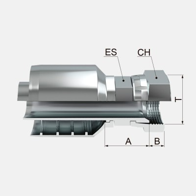 FHFJ 1 - FHFJ Hembra Giratoria Recta JIC 37º