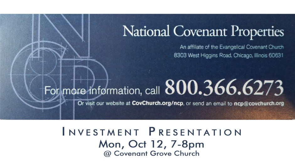 NCP Investment Meeting | Covenant Grove Church