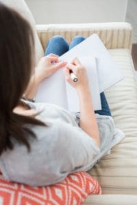 Woman in an individual therapy session, working through her addiction.