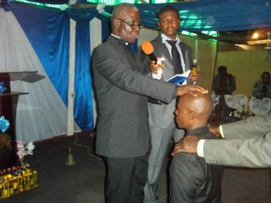 During the ordination service 2