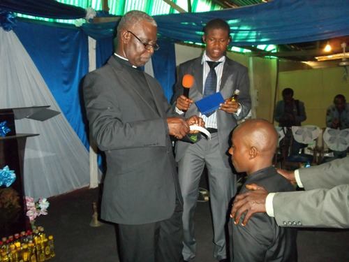 During the ordination service (2)