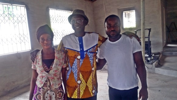 Boachie with facilitator and wife