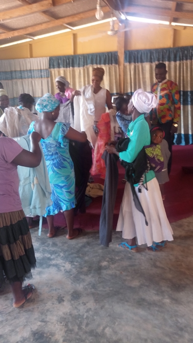 Women going through the donated clothing2