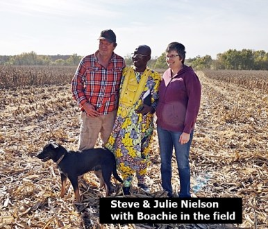 Steve, Boachie and Julie N in the field