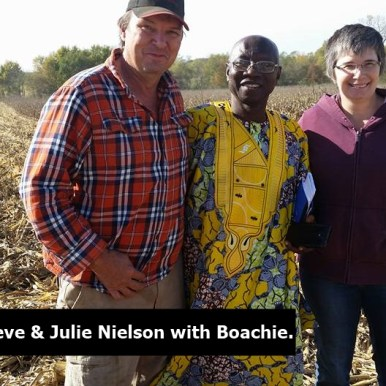 Steve and Julie with Boachie - in the field