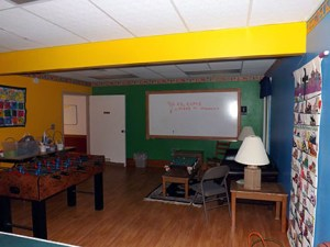 Our 'Spirit Room' where kids and teens can hang out and play