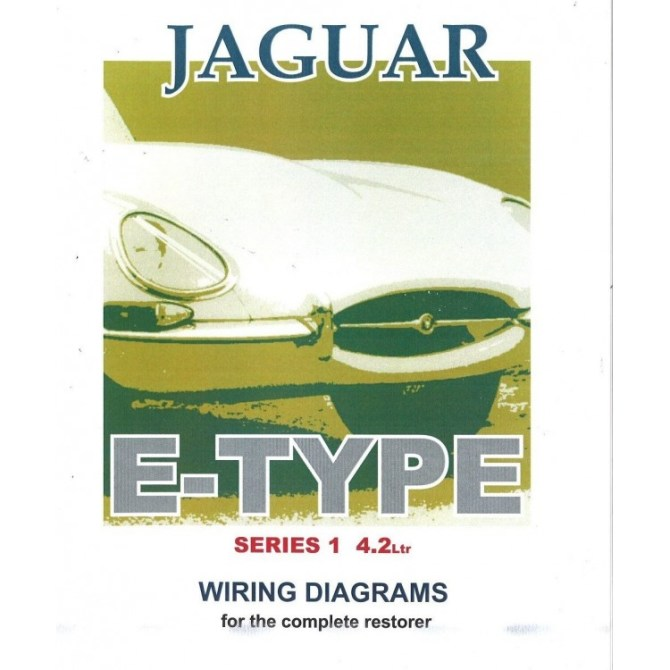 jaguar e type series 1 42 litre wiring diagram book 9191