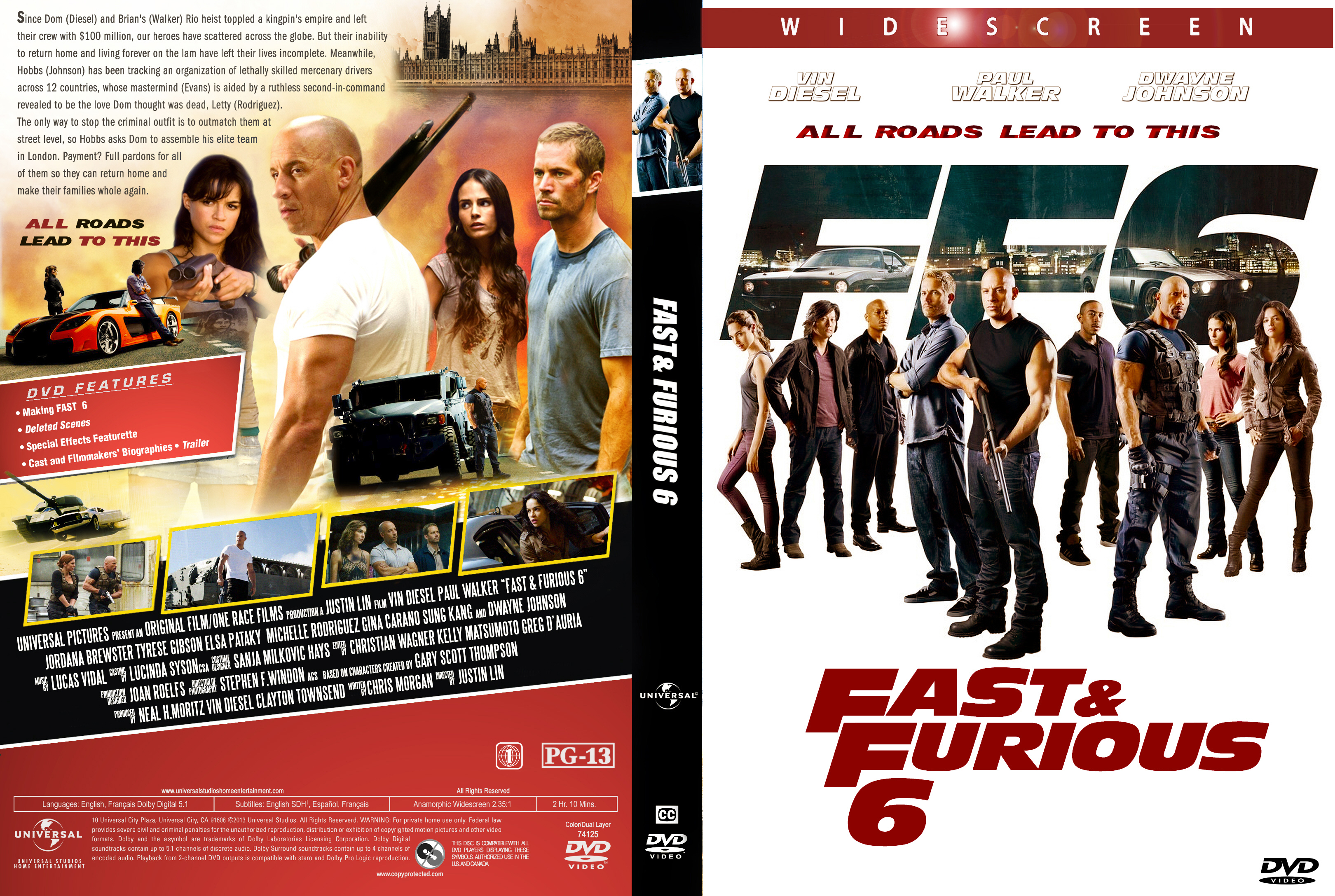 Fast and furious 6 movie cover