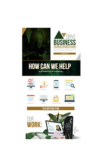 Cover 3 Marketing Landing Page