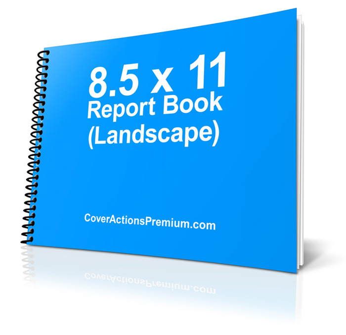 11 x 85 Spiral Bound Book Mockup Pt 1  Cover Actions