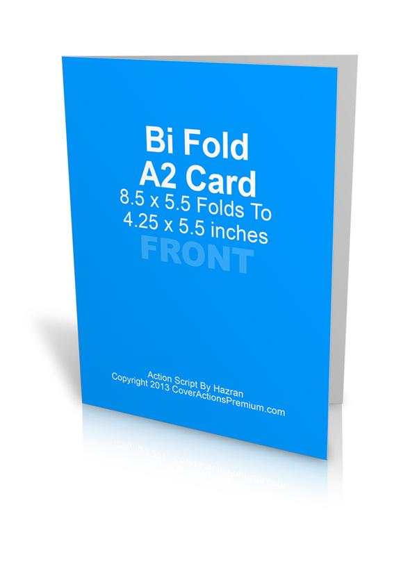 bi fold card template