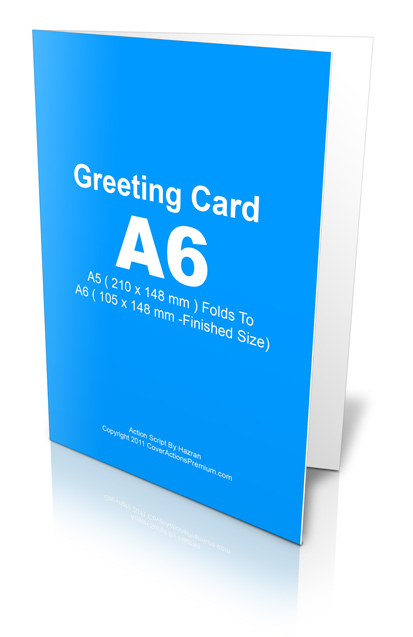A6 Greeting Card Action Script Cover Actions Premium