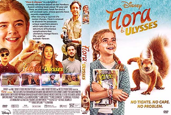 Flora & Ulysses (2021) DVD Cover