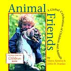 Child holds a large rabbit. Animal Friends by Maya Ajmera & John D. Ivanko