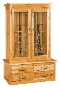 Double Door Gun Cabinet - Amish Furniture Store - Mankato, MN