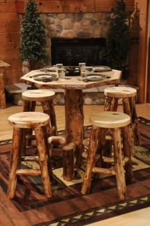 Aspen Octagon Pub Table - Amish Furniture Store Mankato Mn