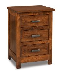 3 Drawer Nightstand Tall - Amish Furniture Store - Mankato, MN