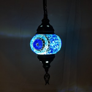 4 Inch Hanging Mosaic Lamps at The Covered Market in Takoma Park, Maryland