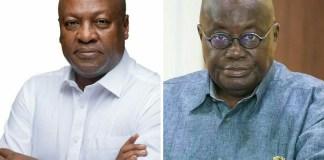 John Dramani Mahama (Left) Nana Addo Dankwa Akufo-Addo (Right)