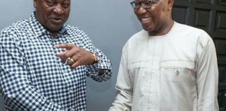 H.E John Dramani Mahama (Left) and Dr. Clement Apaak (Right)