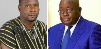 Surveyor Maxwell Kwame Lukutor (Left) and H.E Nana Addo Dankwa Akufo-Addo ( Right)