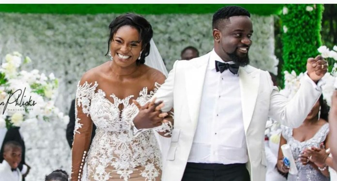 Sarkodie and wife Tracy Sarkcess