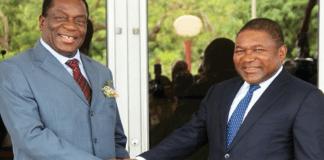 President Emmerson Dambudzo Mnangagwa and President of Zimbabwe Filipe Nyusi