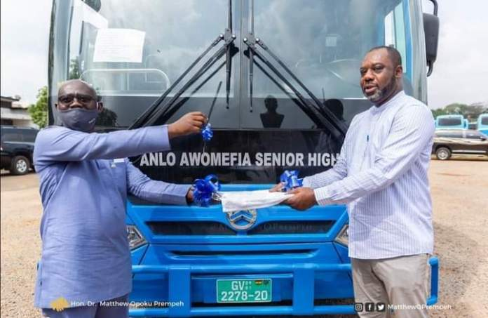 Minister for Education, Dr. Matthew Opoku Prempeh has over buses