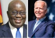 H.E Nana Addo Dankwa Akufo-Addo and H.E Joseph R. Biden, Jr.