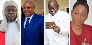 Justice Kwasi Anin Yeboah, John Mahama, Nana Akufo-Addo and Jean Mensa