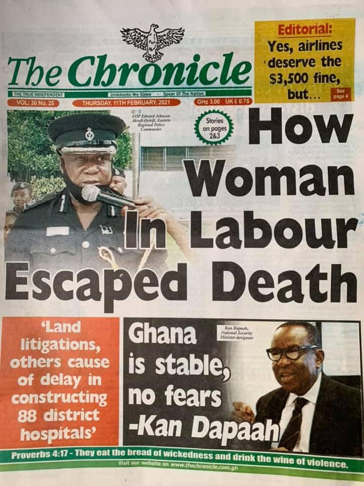 The chronicle newspaper