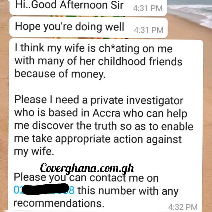 I need a Private investigator to Investigate my wife