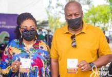 John Dramani Mahama and Lordina Mahama