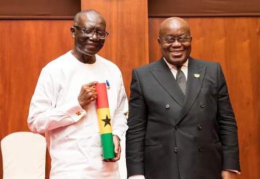 Ken Ofori-Atta and President Nana Addo Dankwa Akufo-Addo